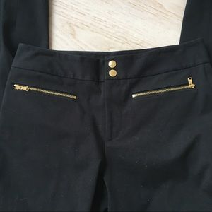 Lauren Ralph Lauren Pants & Jumpsuits - Black Ralph Lauren pant with gold zipper detail 4
